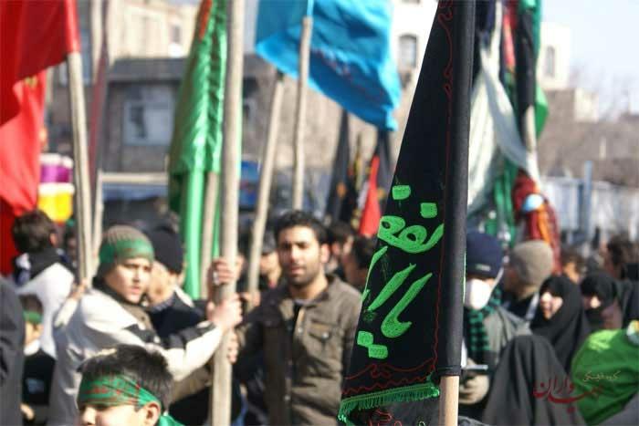 دسته های عزاداری محرم در تهران